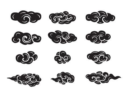 Nuage chinois de style Banque d'images - 32502202