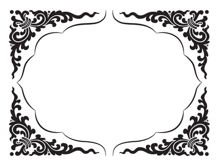 decorative border: line pattern and frame