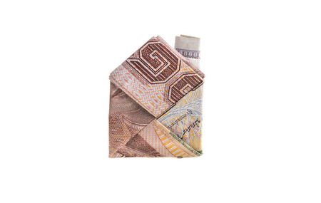 1000 Baht home origami of banknote of Thai currency photo