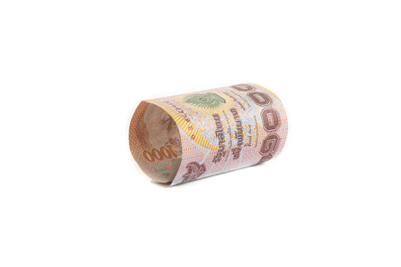 1000 Baht Rolls of banknote of Thai currency photo