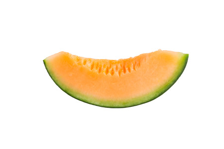freshly cut melon with white background photo