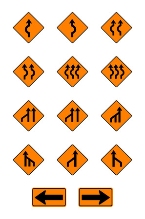 warning signs: warning  signs, traffic signs vector set on white background Illustration