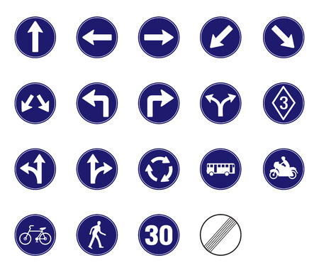 Commanded traffic sign vector icon Illustration