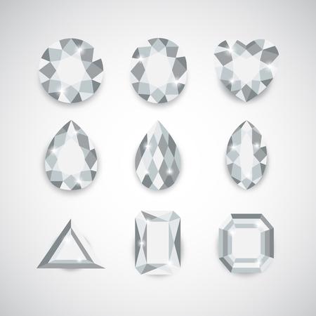 ceylon: White Diamonds and Ruby Icons Set