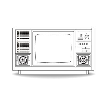 Vintage ligne de télévision icône conception, illustration vectorielle Banque d'images - 62316555
