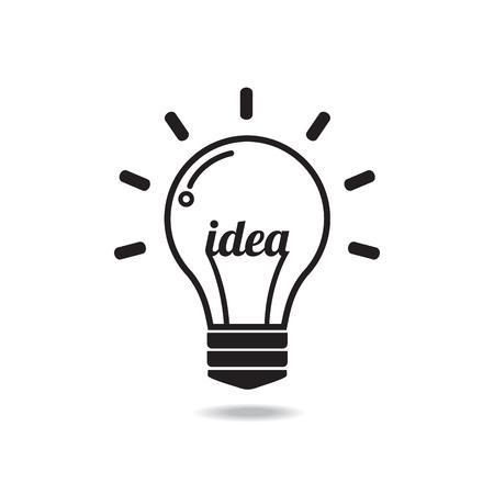 Vector Glühbirne Symbol mit Konzept der idea.Illustration für Print, Web