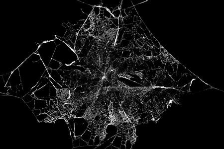 Résumé Spiderweb et araignée sur fond noir Banque d'images - 63178580