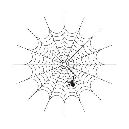 Spiderweb abstrait sur un vecteur blanc Banque d'images - 66083152