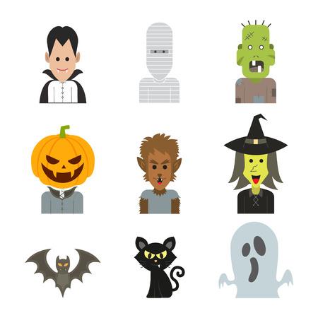 Illustration de vecteur icône personnage de monstre Halloween Banque d'images - 69340675