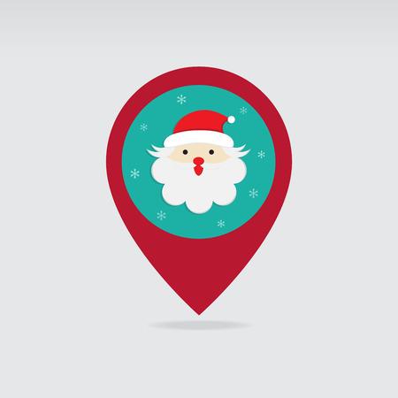 Carte postale Santa Christmas carte icone vecteur Banque d'images - 68180754