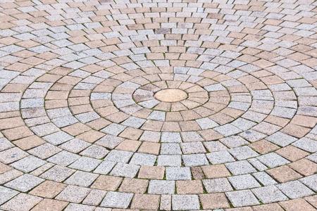Bichromie jaune et gris Brique Pierre au sol pour Road Street. Trottoir, en Vintage Design Revêtement de sol motif carré texture de fond Banque d'images - 72434709