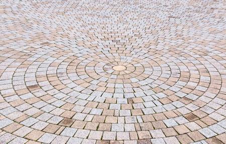 Bichromie jaune et gris Brique Pierre au sol pour Road Street. Trottoir, en Vintage Design Revêtement de sol motif carré texture de fond Banque d'images - 72436473