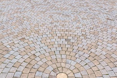 Bichromie jaune et gris Brique Pierre au sol pour Road Street. Trottoir, en Vintage Design Revêtement de sol motif carré texture de fond Banque d'images - 72391025