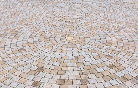 Bichromie jaune et gris Brique Pierre au sol pour Road Street. Trottoir, en Vintage Design Revêtement de sol motif carré texture de fond Banque d'images - 72436505