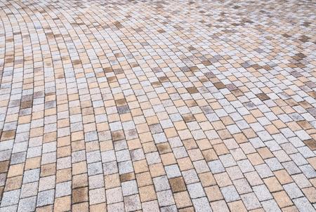 Bichromie jaune et gris Brique Pierre au sol pour Road Street. Trottoir, en Vintage Design Revêtement de sol motif carré texture de fond Banque d'images - 72434702