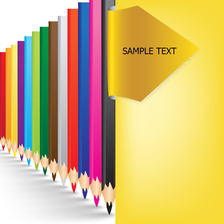 arranged: colorful pencils arranged background