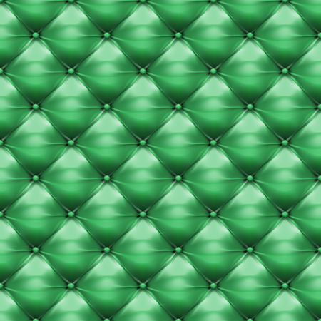 upholstered: Vector of green upholstery leather pattern background Illustration