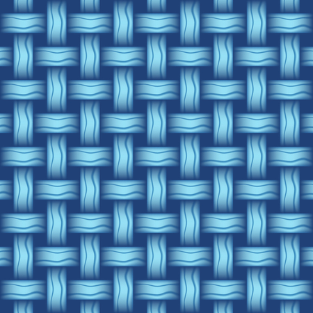 style background: repeating wicker weave style background blue, vector format Illustration
