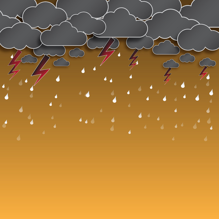 thunderstorm: cloud and rain, thunderstorm, background vector