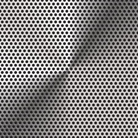 アルミ格子テクスチャと背景ベクトル