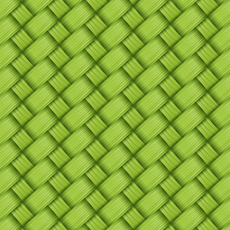 weave: bamboo green weave texture and background vector