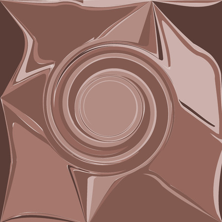 curl whirlpool: brown abstract wave, embossed shadow eddy, design element background vector Illustration