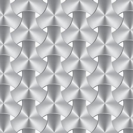 brushed aluminum: aluminum or metal weave texture, background vector
