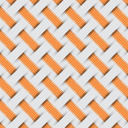 hamper: braided weave pattern, gray background vector