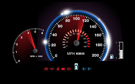 abstract car speedometer background vector Illustration