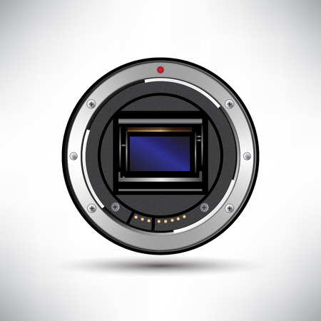 sensor: Camera sensor vector Illustration