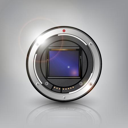 カメラのセンサーの背景のベクトル