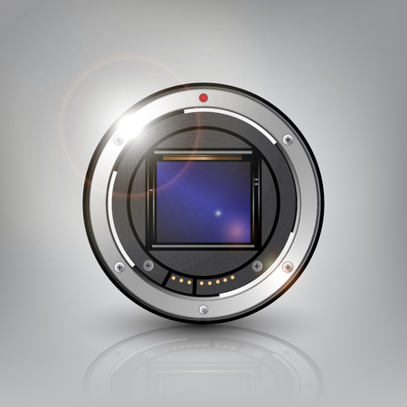 camera sensor background vector