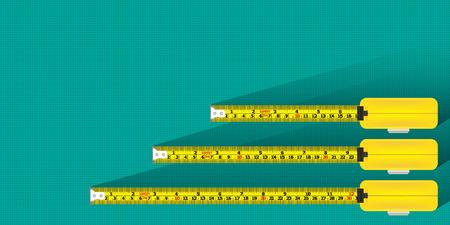 measurement tape: Measurement tape background vector Illustration