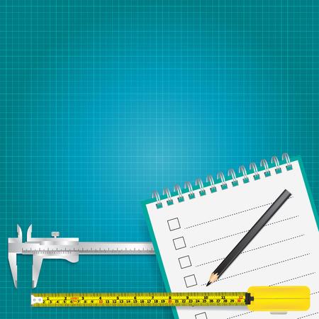 measurement tape: measuring tools and measurement tape vector background Illustration