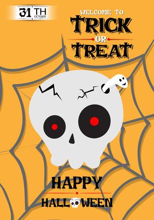 cranium: Vector Cranium Poster Halloween Party Illustration Illustration