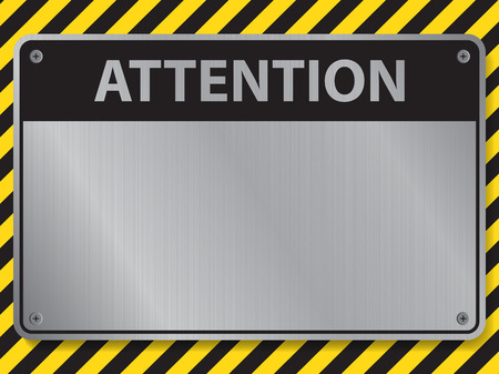 warning signs: Attention sign, illustration vector