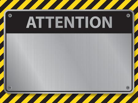señales preventivas: Muestra de la atención, ilustración vectorial