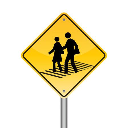 street signs: Walking across the street signs, Illustration vector Illustration