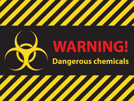 riesgo quimico: advertencia de peligro señal de productos químicos, ilustración vectorial