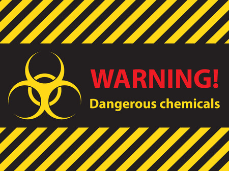 chemical hazard: warning dangerous chemicals sign, illustration vector