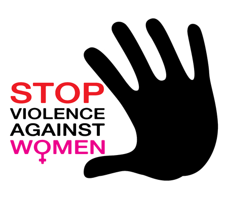 stop violence against women, illustration vector Çizim