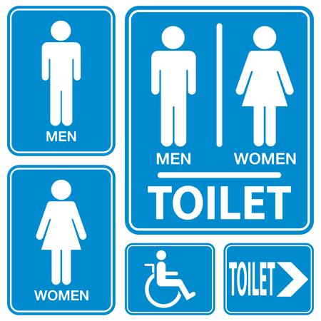 トイレのサイン、イラスト