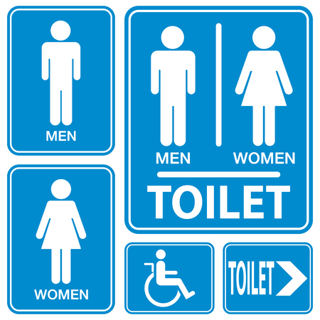 public toilet: Toilet sign, illustration vector
