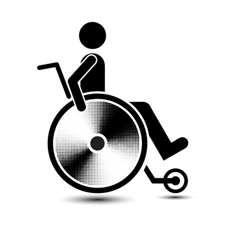 handicap: Disabled person warning sign, handicap sign, easy to edit vector image, Illustration vector