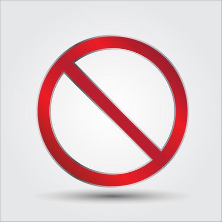 interdiction: panneaux d'interdiction, vecteur Illustration Illustration