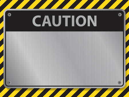 Caution sign, illustration vector