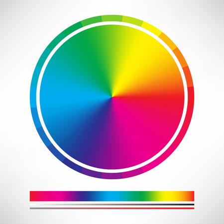 paleta: Carta de color y el color del c�rculo vector de la rueda Vectores
