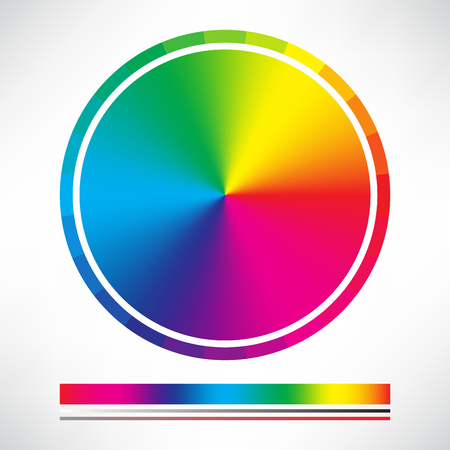 Color chart and Color wheel circle vector