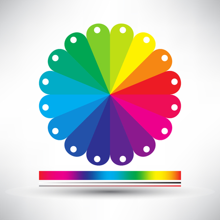secondary colors: vector abstract paper info graphics, paper label, colorful label, web design, color chart