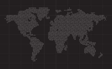 cipher: cipher world map black vector background